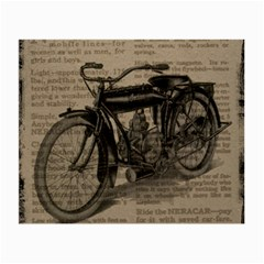 Vintage Collage Motorcycle Indian Small Glasses Cloth (2 Side)