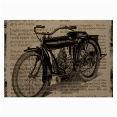 Vintage Collage Motorcycle Indian Large Glasses Cloth (2 Side)