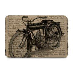 Vintage Collage Motorcycle Indian Plate Mats
