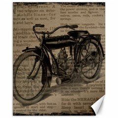 Vintage Collage Motorcycle Indian Canvas 11  X 14
