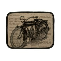 Vintage Collage Motorcycle Indian Netbook Case (small)