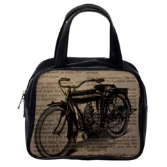 Vintage Collage Motorcycle Indian Classic Handbags (one Side)