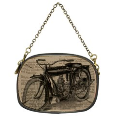 Vintage Collage Motorcycle Indian Chain Purses (one Side)
