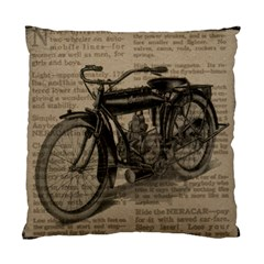 Vintage Collage Motorcycle Indian Standard Cushion Case (one Side)