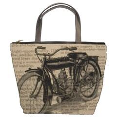 Vintage Collage Motorcycle Indian Bucket Bags