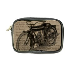 Vintage Collage Motorcycle Indian Coin Purse