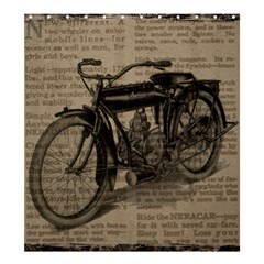 Vintage Collage Motorcycle Indian Shower Curtain 66  x 72  (Large)