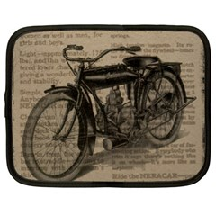 Vintage Collage Motorcycle Indian Netbook Case (xl)