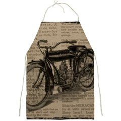 Vintage Collage Motorcycle Indian Full Print Aprons