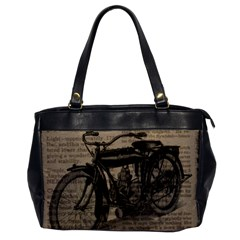 Vintage Collage Motorcycle Indian Office Handbags
