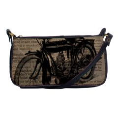 Vintage Collage Motorcycle Indian Shoulder Clutch Bags