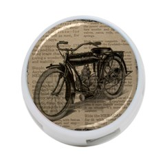 Vintage Collage Motorcycle Indian 4 Port Usb Hub (two Sides)
