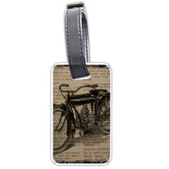 Vintage Collage Motorcycle Indian Luggage Tags (One Side)