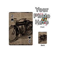 Vintage Collage Motorcycle Indian Playing Cards 54 (Mini)