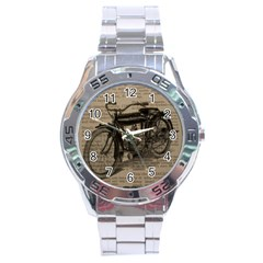 Vintage Collage Motorcycle Indian Stainless Steel Analogue Watch
