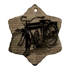 Vintage Collage Motorcycle Indian Ornament (snowflake)