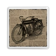 Vintage Collage Motorcycle Indian Memory Card Reader (square)