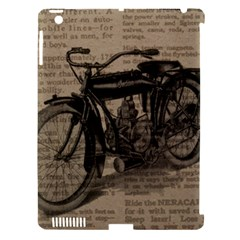 Vintage Collage Motorcycle Indian Apple Ipad 3/4 Hardshell Case (compatible With Smart Cover)