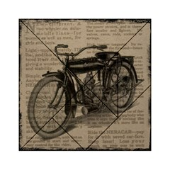 Vintage Collage Motorcycle Indian Acrylic Tangram Puzzle (6  X 6 )