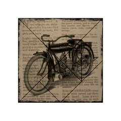 Vintage Collage Motorcycle Indian Acrylic Tangram Puzzle (4  X 4 )