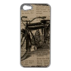 Vintage Collage Motorcycle Indian Apple Iphone 5 Case (silver)
