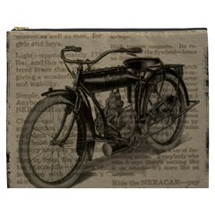 Vintage Collage Motorcycle Indian Cosmetic Bag (xxxl)
