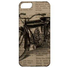 Vintage Collage Motorcycle Indian Apple Iphone 5 Classic Hardshell Case