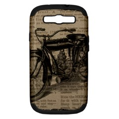 Vintage Collage Motorcycle Indian Samsung Galaxy S Iii Hardshell Case (pc+silicone)