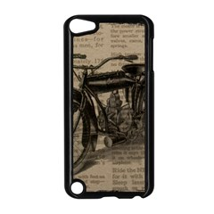 Vintage Collage Motorcycle Indian Apple Ipod Touch 5 Case (black)