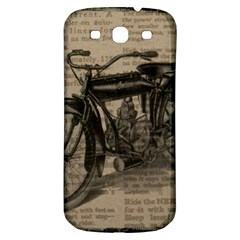 Vintage Collage Motorcycle Indian Samsung Galaxy S3 S Iii Classic Hardshell Back Case