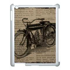 Vintage Collage Motorcycle Indian Apple Ipad 3/4 Case (white)