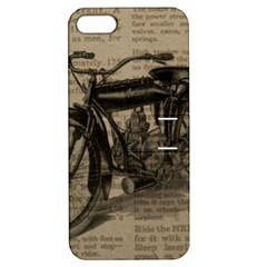 Vintage Collage Motorcycle Indian Apple Iphone 5 Hardshell Case With Stand