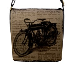 Vintage Collage Motorcycle Indian Flap Messenger Bag (l)
