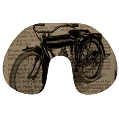 Vintage Collage Motorcycle Indian Travel Neck Pillows