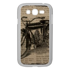 Vintage Collage Motorcycle Indian Samsung Galaxy Grand Duos I9082 Case (white)