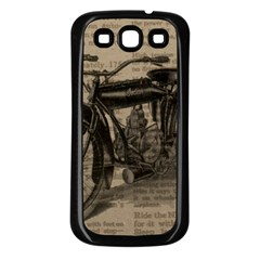 Vintage Collage Motorcycle Indian Samsung Galaxy S3 Back Case (black)