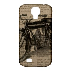 Vintage Collage Motorcycle Indian Samsung Galaxy S4 Classic Hardshell Case (PC+Silicone)