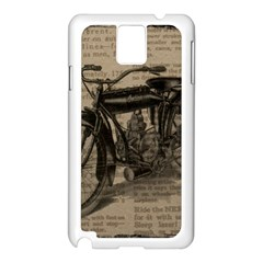 Vintage Collage Motorcycle Indian Samsung Galaxy Note 3 N9005 Case (white)