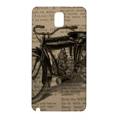 Vintage Collage Motorcycle Indian Samsung Galaxy Note 3 N9005 Hardshell Back Case