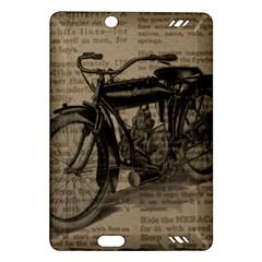 Vintage Collage Motorcycle Indian Amazon Kindle Fire Hd (2013) Hardshell Case