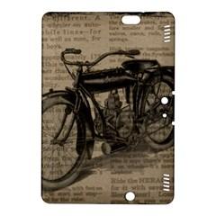 Vintage Collage Motorcycle Indian Kindle Fire Hdx 8 9  Hardshell Case