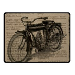 Vintage Collage Motorcycle Indian Double Sided Fleece Blanket (small)