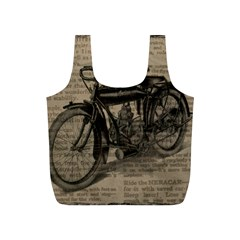 Vintage Collage Motorcycle Indian Full Print Recycle Bags (s)
