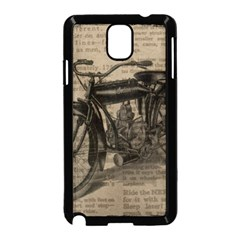 Vintage Collage Motorcycle Indian Samsung Galaxy Note 3 Neo Hardshell Case (black)