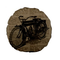 Vintage Collage Motorcycle Indian Standard 15  Premium Flano Round Cushions