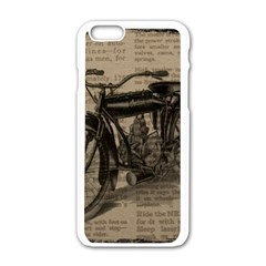 Vintage Collage Motorcycle Indian Apple Iphone 6/6s White Enamel Case