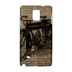 Vintage Collage Motorcycle Indian Samsung Galaxy Note 4 Hardshell Case