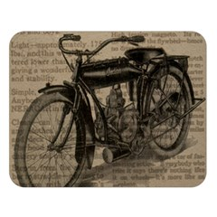 Vintage Collage Motorcycle Indian Double Sided Flano Blanket (large)