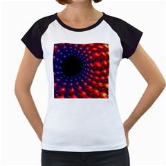 Fractal Mathematics Abstract Women s Cap Sleeve T