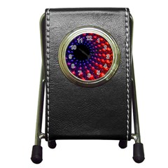Fractal Mathematics Abstract Pen Holder Desk Clocks